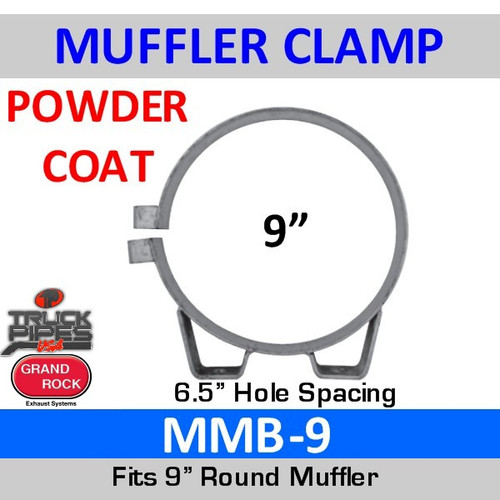 "MMB-9 9"" Universal Round Muffler Exhaust Clamp Powder Coat MMB-9"