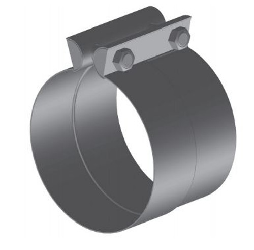 "PF-4ABT 4"" Preformed Aluminized Butt Joint Exhaust Clamp"