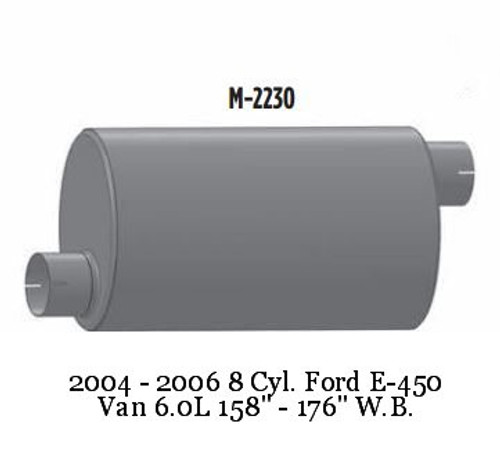 M-2230 Ford Muffler For E-450 Bus or Van