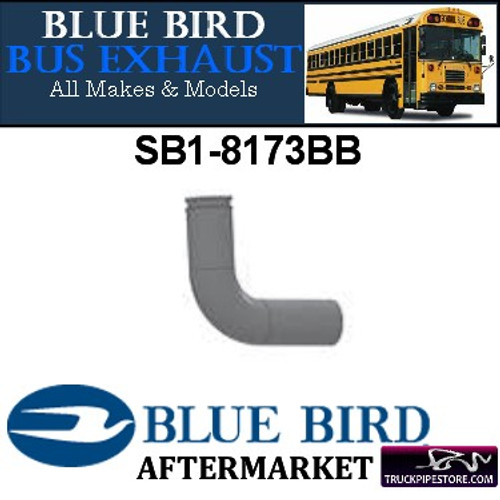 "SB1-8173BB Bluebird Bus Exhaust Elbow 3"" 90 Degree OD Flare Aluminized"