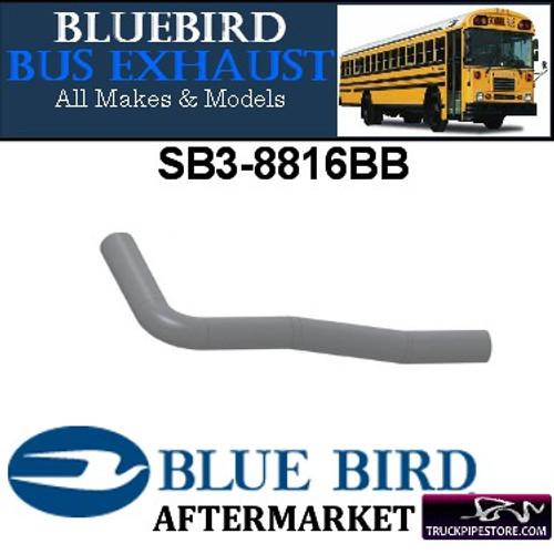 """SB3-8816BB 3"""" 3 Bend Bluebird Bus Pipe OD-OD ALZ"""