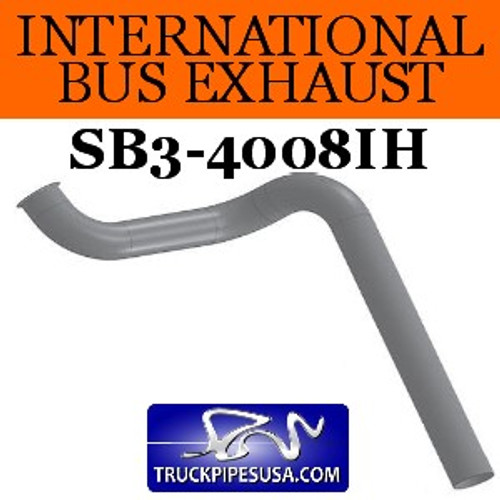 "SB3-4008IH 3584619C2 International Bus Pipe 3 Bend 3.5"" OD Flared End ALZ"