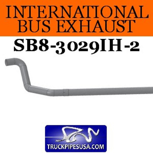 "SB8-3029IH-2 1610299C3 2pc International Bus Pipe 3 Bend 4"" OD-OD End ALZ"