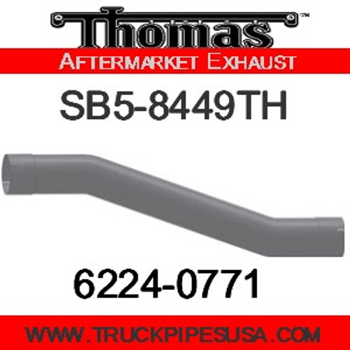 "6224-0464 4"" Thomas Bus Exhaust 4 Bend Pipe OD-ID ALZ"