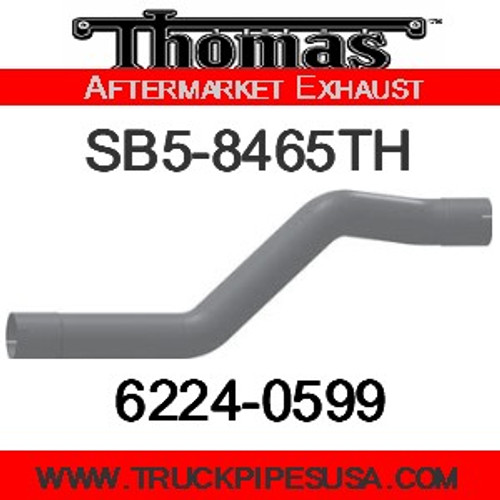 "SB5-8465TH SB5-8465TH 4"" Thomas Bus Exhaust 3 Bend Pipe ID-ID ALZ"