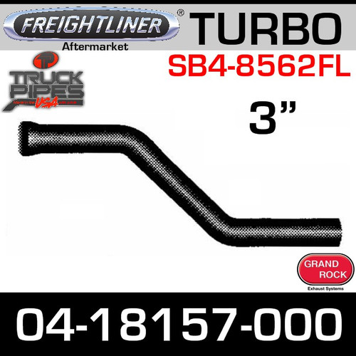 """04-18157-000 3"""" Freightliner Bus Exhaust 2 Bend OD/FLARE SS (SB4-8562FL)"""