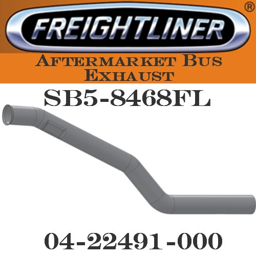 "SB5-8468FL 04-22450-000  4"" Freightliner Bus Exhaust 3 Bend OD/FLARE FLAT ALZ"