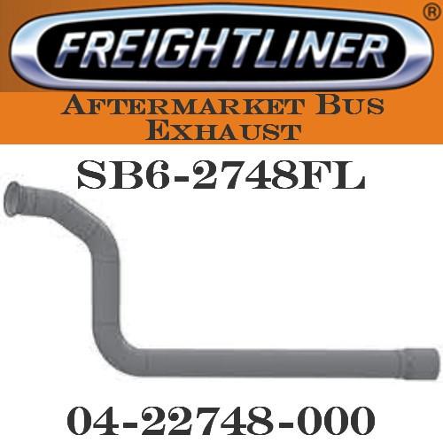 "SB6-2748FL 04-22748-000  4"" Freightliner Bus Exhaust 3 Bend OD/3.5""FLARE ALZ"