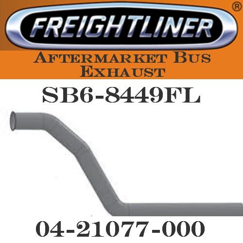 "SB6-8449FL 04-21077 -000  4"" Freightliner Bus Exhaust 3 Bend OD/FLARE ALZ"