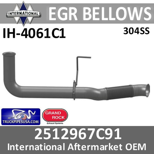 3854061C1 or 2512967C91 International EGR Bellow IH-4061C1