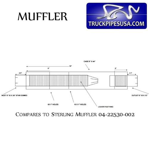 04-22530-002 Aftermarket Sterling Truck Muffler D13-1519