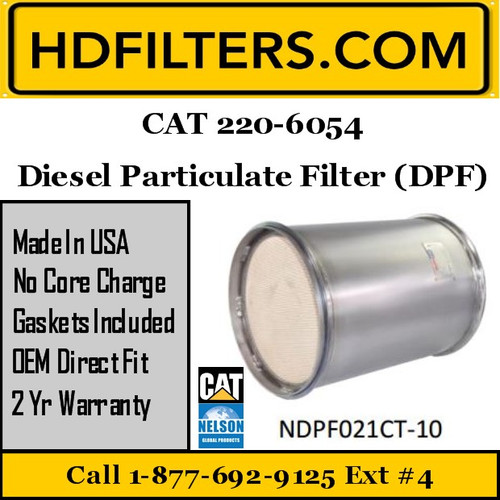 220-6054 CAT C9 DPF Diesel Particulate Filter