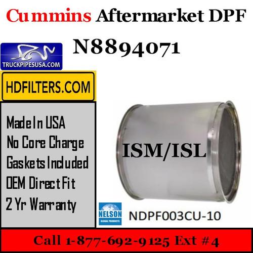 N8894071 Cummins ISM ISL Engine Diesel Particulate Filter DPF