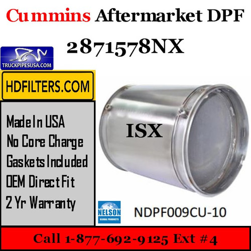 2871578NX-NDPF009CU-10 2871578NX Cummins ISX Engine Diesel Particulate Filter DPF
