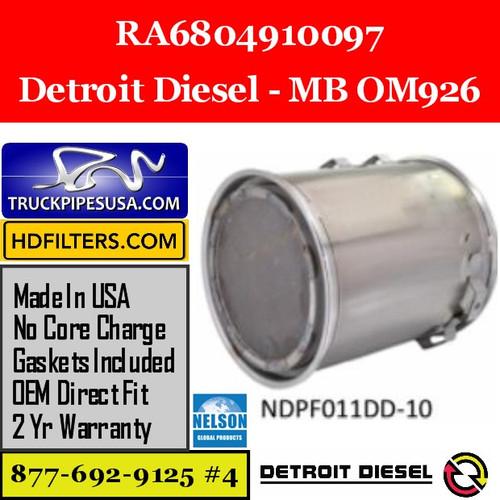RA6804910097-NDPF011DD-10 RA6804910097 Detroit Diesel MB OM926 Engine DPF