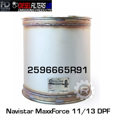 2596665R91 Navistar MaxxForce 11/13 DPF (RED 52955)
