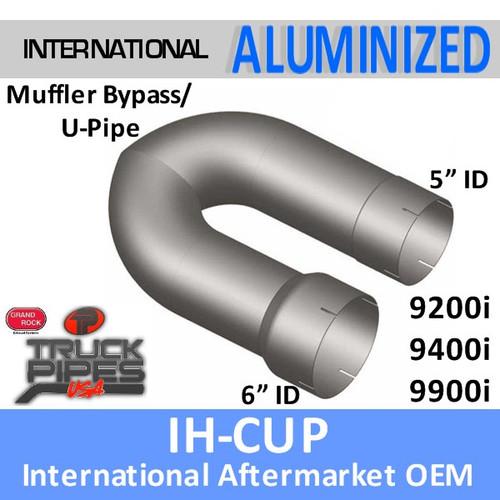 "IH-ACUP International 6"" to 5"" Muffler Delete U-Pipe"