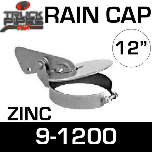 12 inch Heavy Duty Exhaust Rain Cap Zinc Plated 9-1200