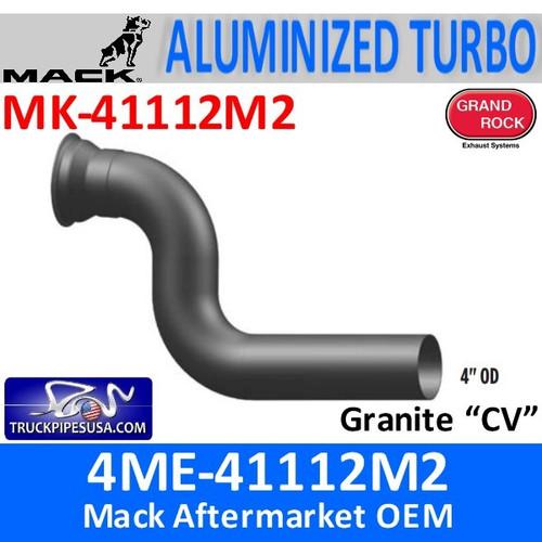 """4ME-41112M2 Mack CV 4"""" OD Turbo Exhaust Pipe MK-41112M2"""