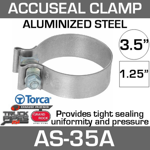 3.5 inch Aluminized AccuSeal Exhaust Band Clamp AS-35A
