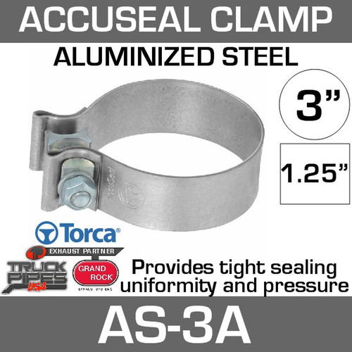 """3"""" Aluminized AccuSeal Exhaust Band Clamp AS-3A"""