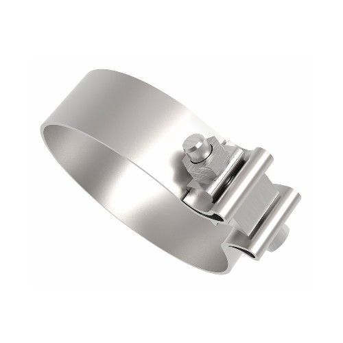 """AS-4SSP 4"""" Polished Stainless AccuSeal Band Exhaust Clamp"""