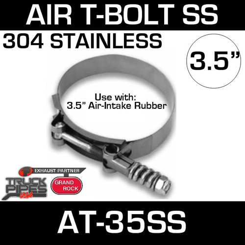AT-35SS Clamp 3.5 inch Air T-Bolt Stainless Steel
