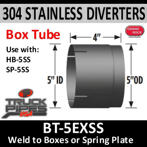 "BT-5EXSS 5"" ID 304 Stainless Steel Weld to SS Diverter Box"