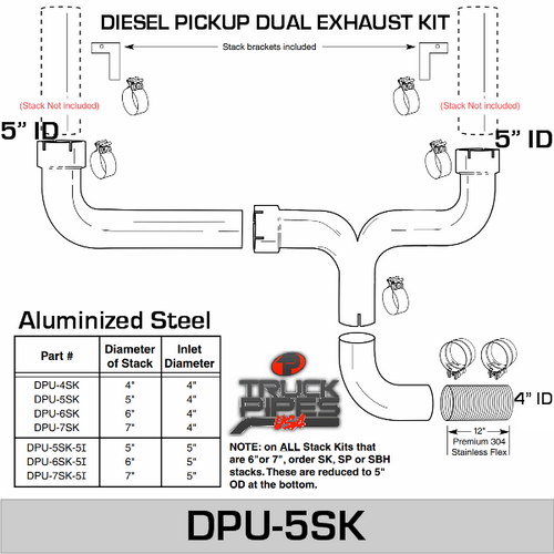 5 inch Dual Pick-up Stack Kit DPU-5SK