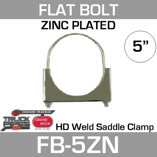 "5"" Flat Bolt Exhaust Clamp Zinc Plated FB-5ZN"