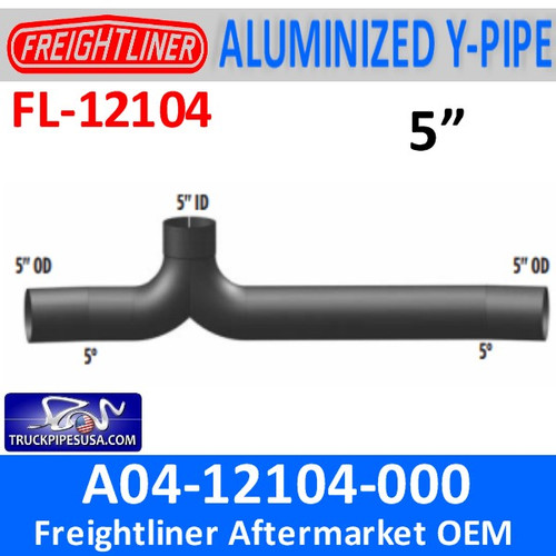 A04-12104-000 Freightliner Y-Pipe Exhaust FL-12104