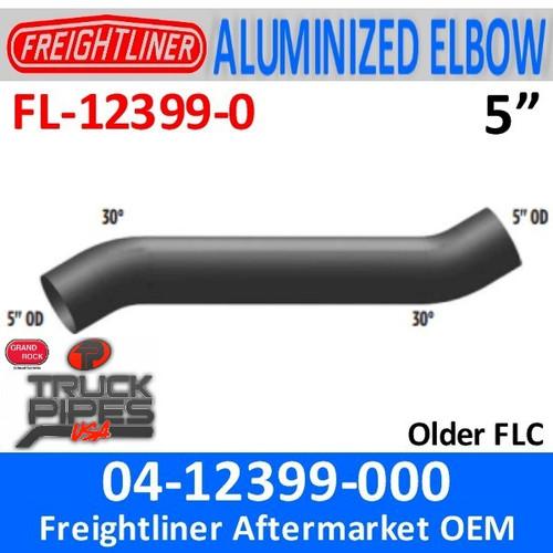 """04-12399-000 Freightliner 34"""" Long 30 Deg Elbow FL-12399-0"""
