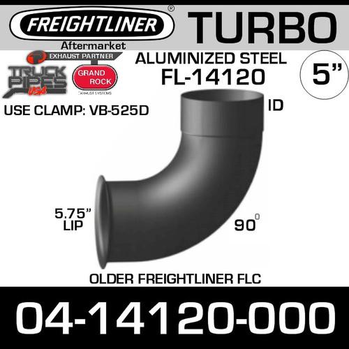 04-14120-000 Freightliner 90 Deg Turbo Pipe 5.75 OD-5 ID FL-14120