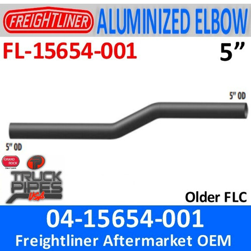 "04-15654-001 Freightliner 5"" Long Exhaust Elbow FL-15654-001"