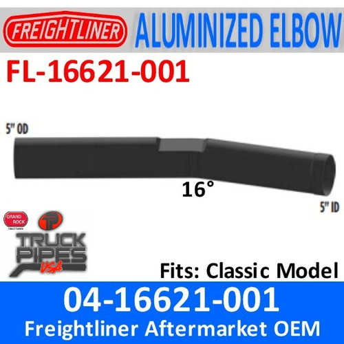04-16621-001 Freightliner Classic Pipe Exhaust FL-16621-001