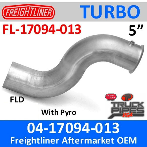 04-17094-013 Freightliner Turbo Exhaust with Pyro FL-17094-013