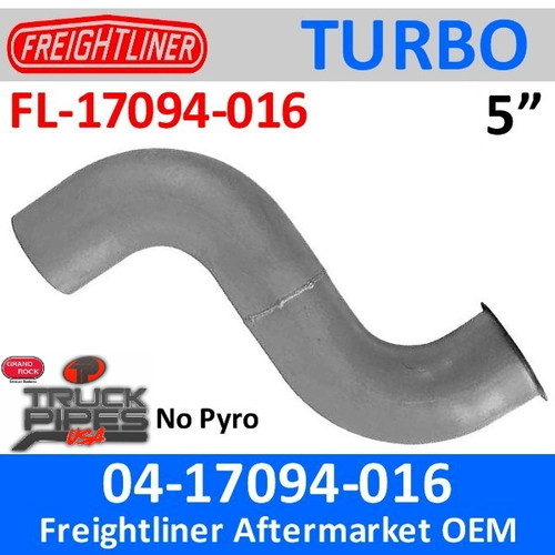 04-17094-016 Freightliner Turbo Exhaust NO Pyro FL-17094-016