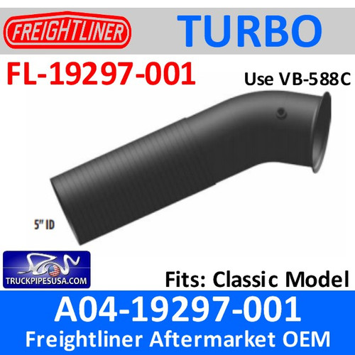 O4-19297-001 Freightliner Classic Turbo Pipe FL-19297-001