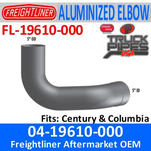 04-19610-000 Freightliner Century or Columbia Elbow FL-19610-000