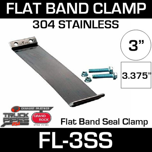 "3"" 304 Stainless Steel Flex-Seal Exhaust Clamp FL-3SS"