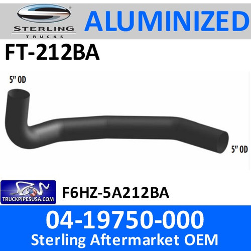FT-212BA 04-19750-000 or F6HZ-5A212BA Sterling Exhaust Elbow FT-212BA
