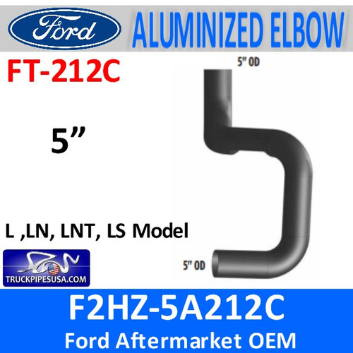 F2HZ-5A212C Ford L, LNT, LTS Model Muffler Inlet FT212C