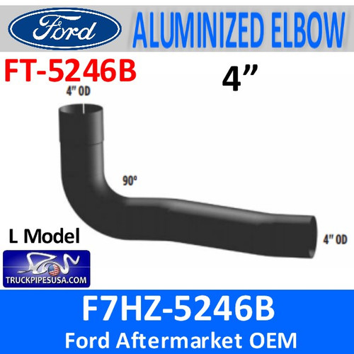 FT-5246B F7HZ-5246B Ford L Model Exhaust Elbow 90 Degree FT-5246B