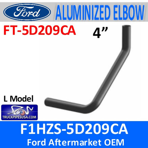 F1HZS-5D209CA Ford 4 inch Multi Bend Aluminized FT-5D209CA