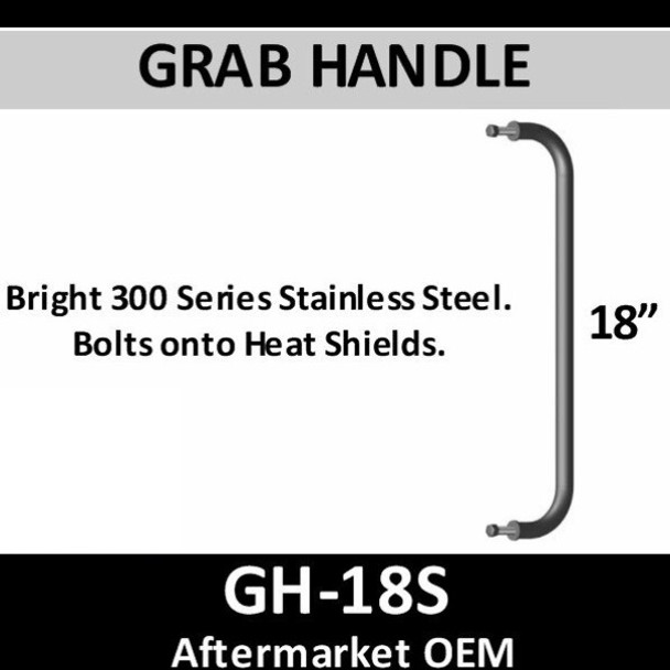 """GH-18S 18"""" 300 Bright Stainless Steel Grab Handle"""