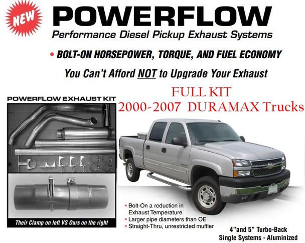"GM-0004-A4 2000-2007 GM 6.6L Duramax 4"" Powerflow Stack Kit"
