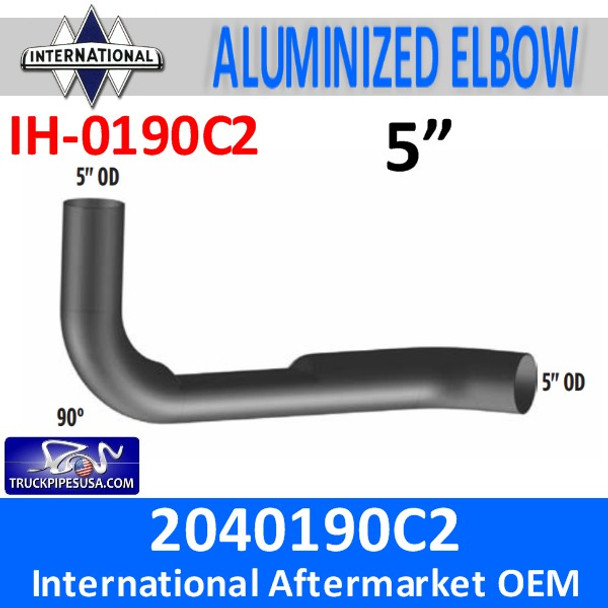 2040190C2 International Elbow with Flat Area IH-0190C2
