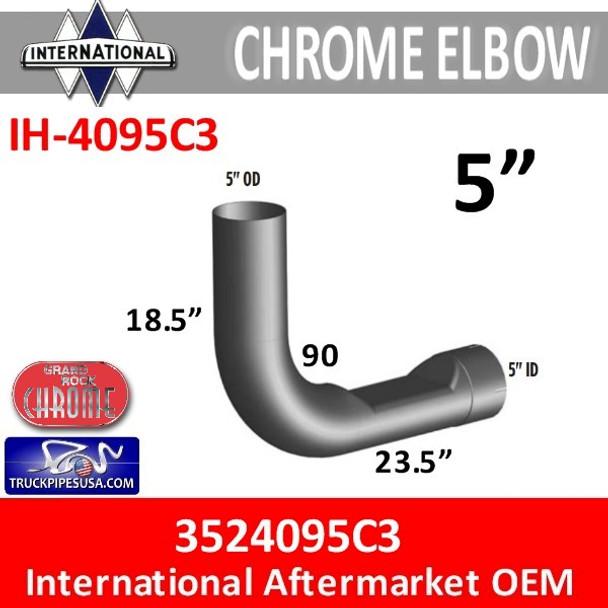 3524095C3 International Chrome Exhaust Elbow IH-4095C3