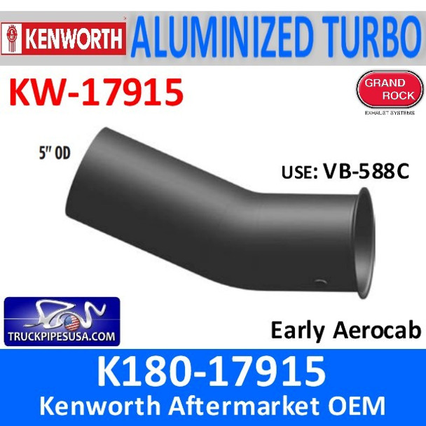 K180-17915 Kenworth Exhaust Turbo Pipe with Sensor Hole