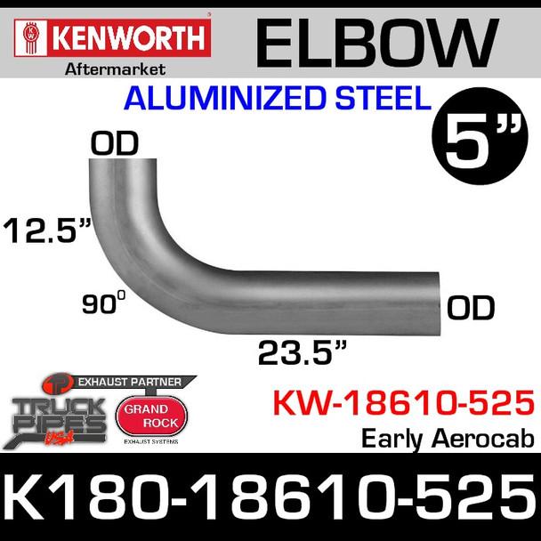 K180-18610-525 Kenworth Aftermarket Exhaust Elbow 90 degree (KW-18610-525)
